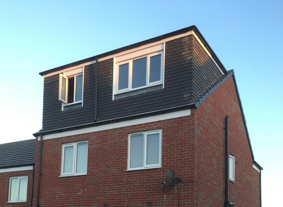 Flat roof rear dormer conversion, creating a master bedroom with bathroom in Galgate