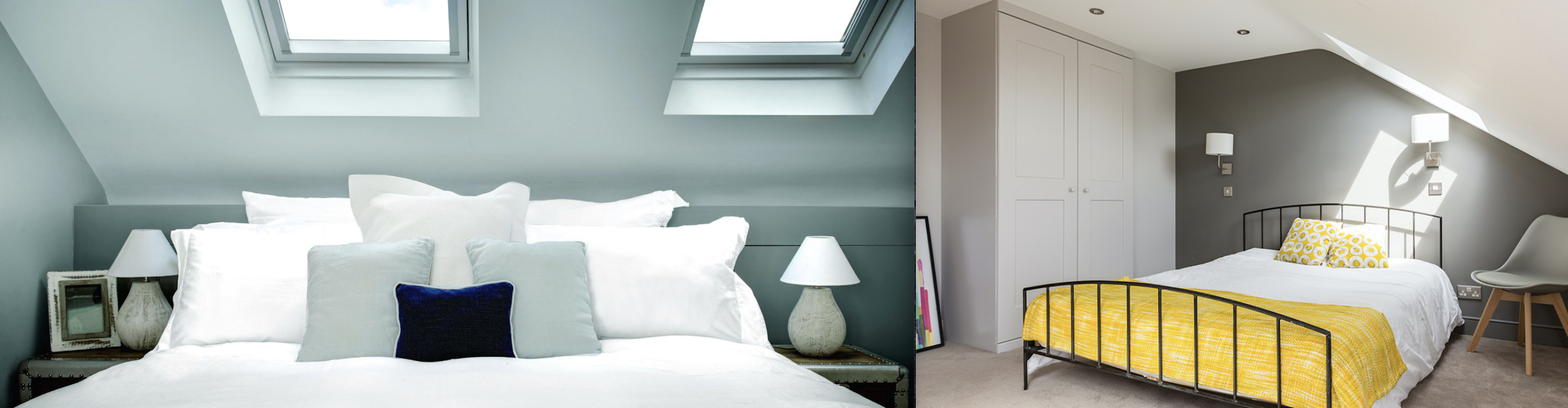 Beautiful Dormer loft conversion in Manchester, creating a new master bedroom with private bathroom, walk in wardrobe and stunning new oak staircase. Six Velux polyurethane windows SK06 GGU and 6 GPU SK06 Velux windows.