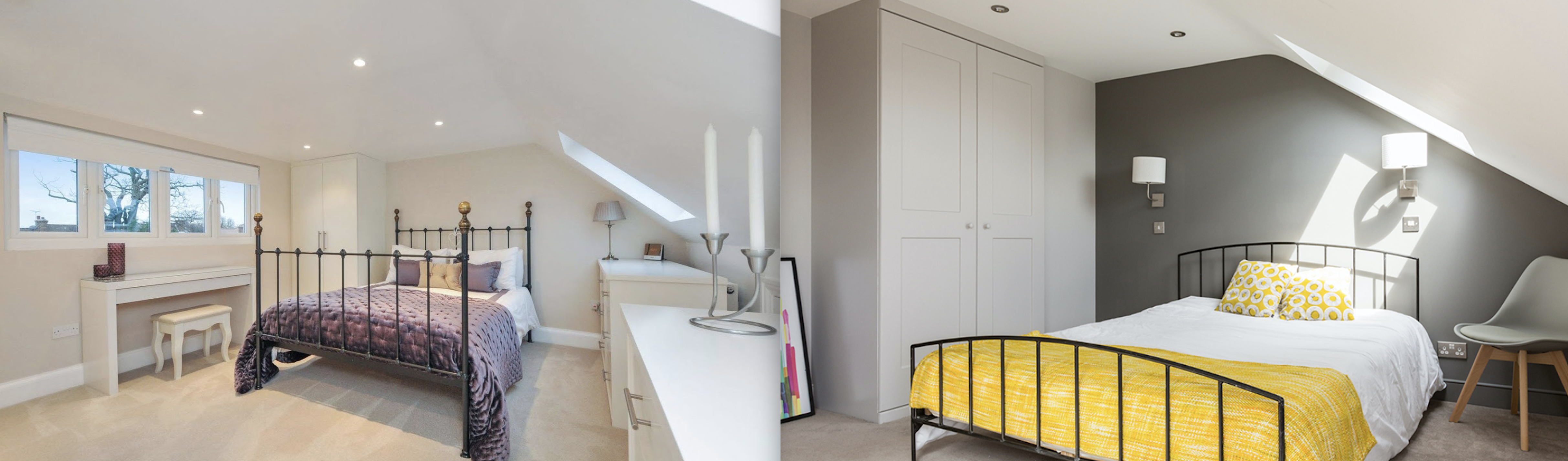 Beautiful Dormer loft conversion in Warrington, creating a new master bedroom with private bathroom, walk in wardrobe and stunning new oak staircase with Velux polyurethane SK06 GPU windows.