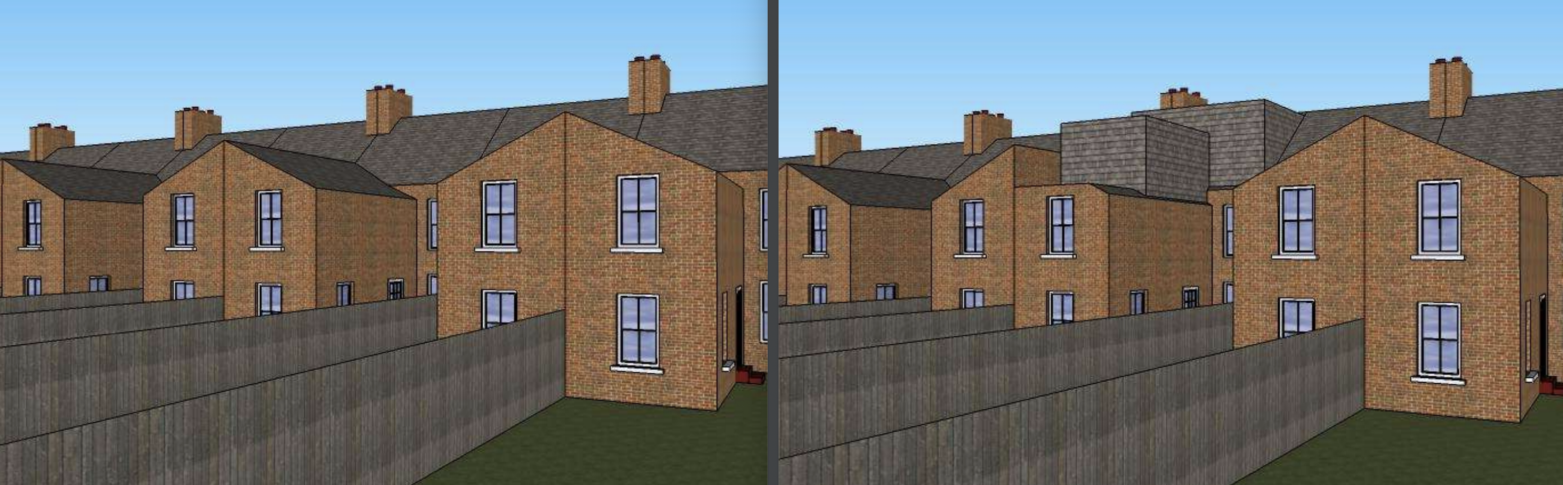 Permitted Development - Loopholes - image L-Shaped-Dormer.-Before-After. on https://rafterloftconversions.co.uk