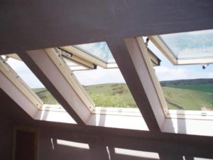 Bank of Velux SK08 GPU windows in a loft conversion St Helens