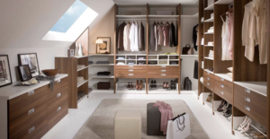 Farnworth loft conversions, this particular loft conversion has a walk in wardrobe from the master bedroom