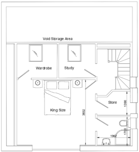 Loft conversion split into three rooms consisting of master bedroom eith walk in wardrobe and a study, Warburton