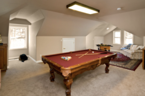 Stockport loft conversion for a games room, this spacious games room was perfect for the client.