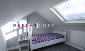 Dormer loft conversion, in Bolton, creating a large new master bedroom with private bathroom.