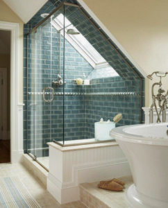 Dormer loft conversion with a walk in private bathroom