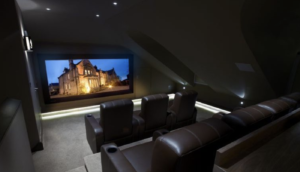 Games and cinema room loft conversion