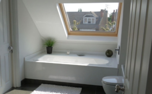 Loft conversion with a bathroom in Hudderfield