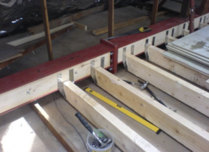 Floor construction in a Wilmslow loft conversion.